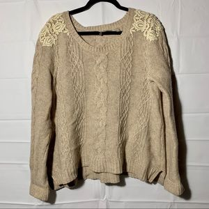 Anthropologie knitted and knotted sweater XL